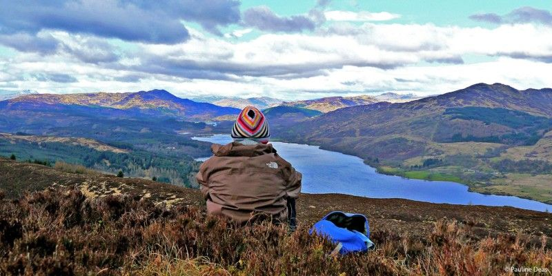 boy-looking-at-loch-venachar-from-hill-top