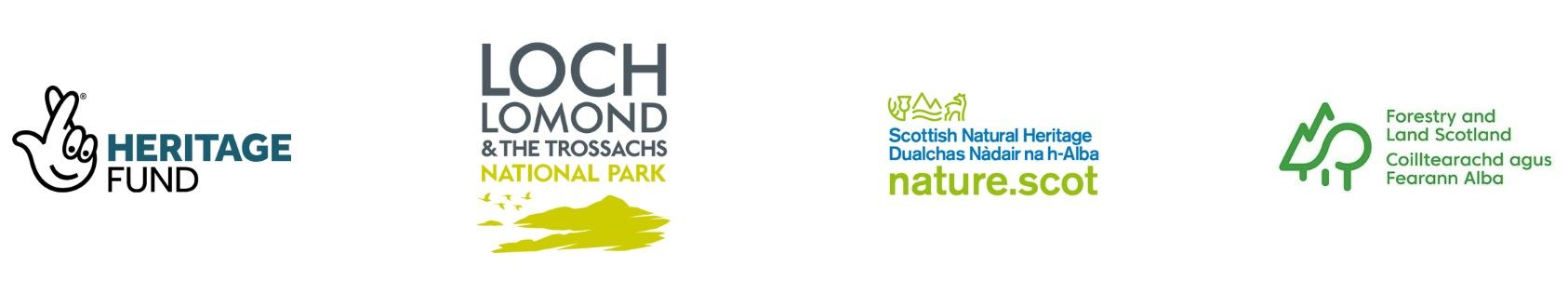 volunteering-and-activities-logos-partners-heritage-fund-loch-lomond-trossachs-national-park-scottish-natural-heritage-forestry-land-scotland