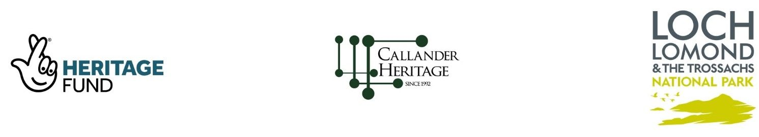 oral-istpry-project-partners-logos-heritage-fund-callander-heritage-society-loch-lomond-trossachs-national-park