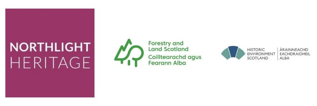 archaeology-project-partners-logos-northlight-heritage-forestry-land-scotland-historic-environment-scotland