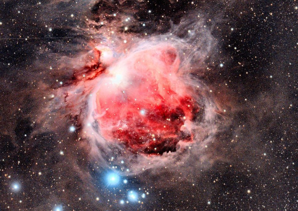 red-colours-of-the-Orion-nebula-in-space