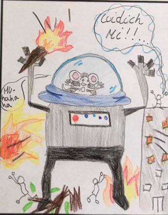gaelic-comic-created-by-a-pupil-featuring-a-robot-piloted-by-a-mouse