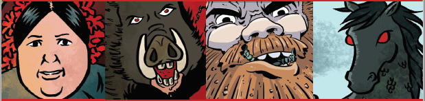 scenes-from-the-comic-including-giants-and-wild-boar