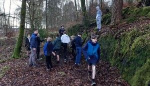 Jack and the youth club at Coilhallan Woods.