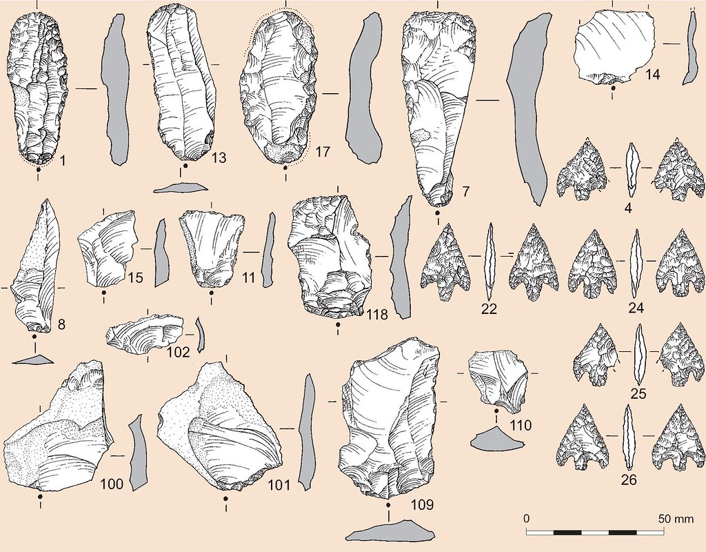 """""""Flint illustration"""" by Wessex Archaeology is licensed under CC BY-NC 2.0"""